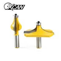 XCAN 2PCS Set 1 2 Inch Shank Handrail Router Bit Set Standard Flute Woodworking Line Cutter