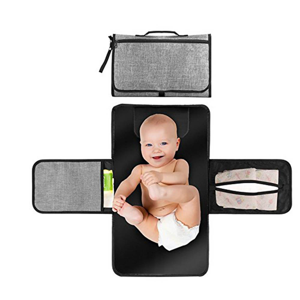 Foldable Travel Changing Station Portable Diaper Changing Pad Mermaid Waterproof Baby Changing Pad Stroller Strap,Side Pocket for Wipes Diaper  for Infants /& Newborns Diaper Bag Mat