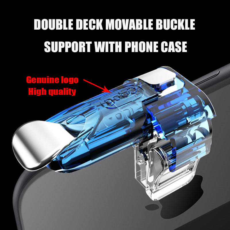 Image 4 - Smart phone gamepad free fire pubg mobile game controller handle for L1 R1 PUBG mobile controller iphone gaming shooter button-in Gamepads from Consumer Electronics