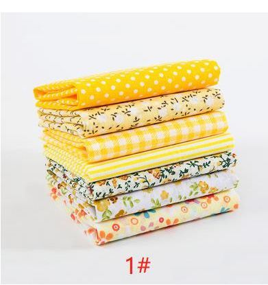 7 pcs 25x25cm/pack printed cotton fabric quilting fabric sewing material for DIY handbag patchwork fabric T7866-1