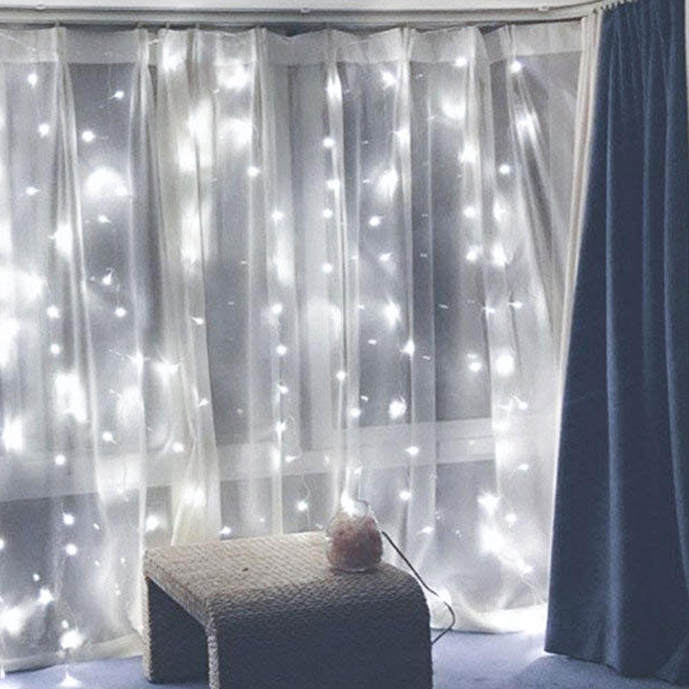 3*3m 300 rideau lampe 8 Mode USB doux fil rideau plein de lumière étoile LED petite chaîne de lumière télécommande cuivre Filament lampe