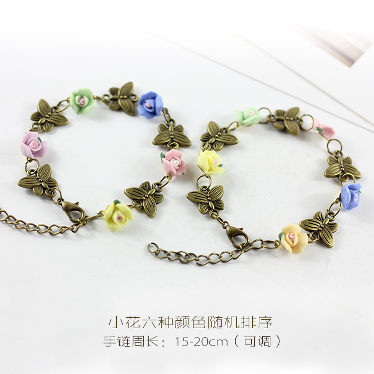Popular Handmade Colorful Flower and Butterfly Ceramic Bracelet ...
