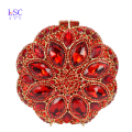 Red Crystal Evening Bag Roundness Luxury Clutch bags Wedding Party Purse Prom Handbag Banquet Bag Day Clutches SC251