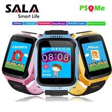 Crianças Relógios Inteligentes GPS Relógio com SOS Chamando A Luz Da Câmera da Tela de Toque Inteligente Bebê Telefone Bebê Posicionamento Localização Alarm Clock