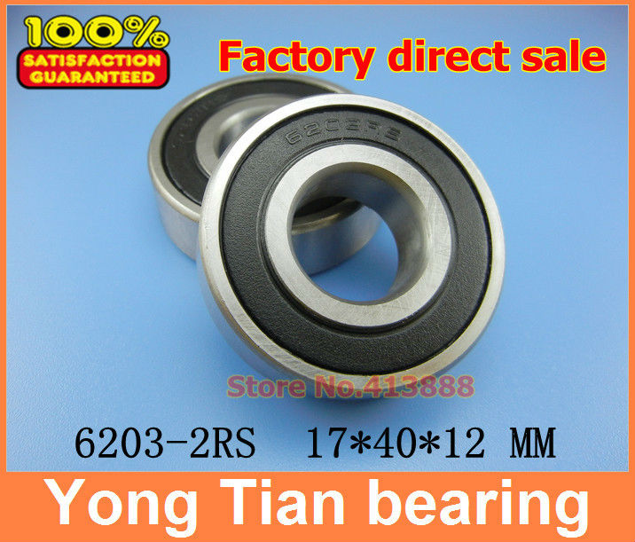 10pcs free shipping double Rubber sealing cover deep groove ball bearing 6203-2RS 17*40*12 mm 10pcs 608 2rs 608rs 608 2rs 8mm x 22mm x 7mm black double rubber sealing cover deep groove ball bearing for hand spinner