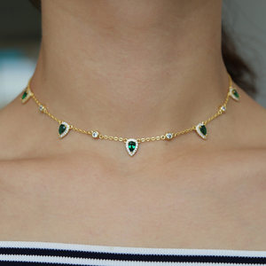 Image 5 - בוהמיה 2018 זהב צבע ירוק אבן שרשרת הצהרת שרשרת קולר תכשיטים לנשים אלגנטיות מתנה אופנתי תכשיטים