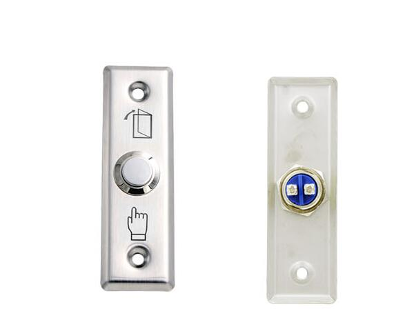 Free Shipping ,exit button for Access control,Stainless Steel ,Dimensions: 91Lx28Wx20H(mm) ,min:1pcs
