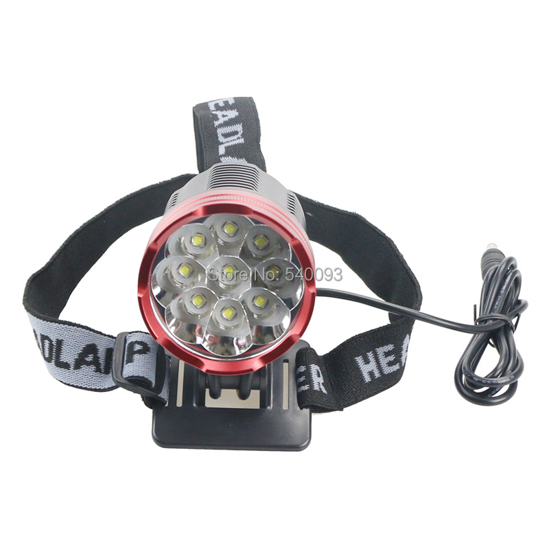 Free Shipping 15000 Lumen 9x CREE XM-L T6 LED Front Bicycle Light bike Lamp Cycling Head Set 15000 lumen 9x cree xm l2 led 5modes cycling head front bicycle light bike lamp headlamp 4x18650 battery pack charger