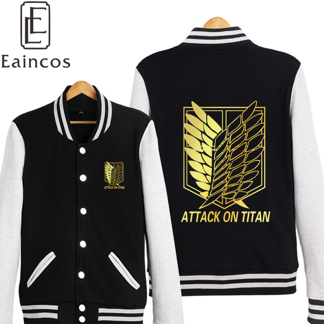 Attack on Titan Golden Print Cosplay Costumes Jackets