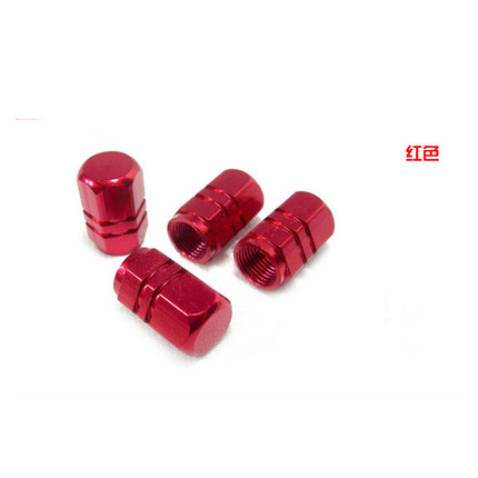 4PC Red Car Wheel Tyre Valve Caps for Fiat VW Jaguar Abarth Tire Valve Dust Cap