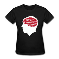 Women S Brain Computer Science Graphic Short Sleeve T Shirt Best Black
