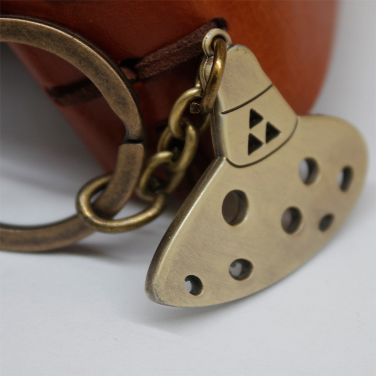 Metal Keychain The Legend of Zelda Ocarina Of  Time Pendent Keychain Necklace Halloween Cos Anime Collectibles Kid Birthday Gift