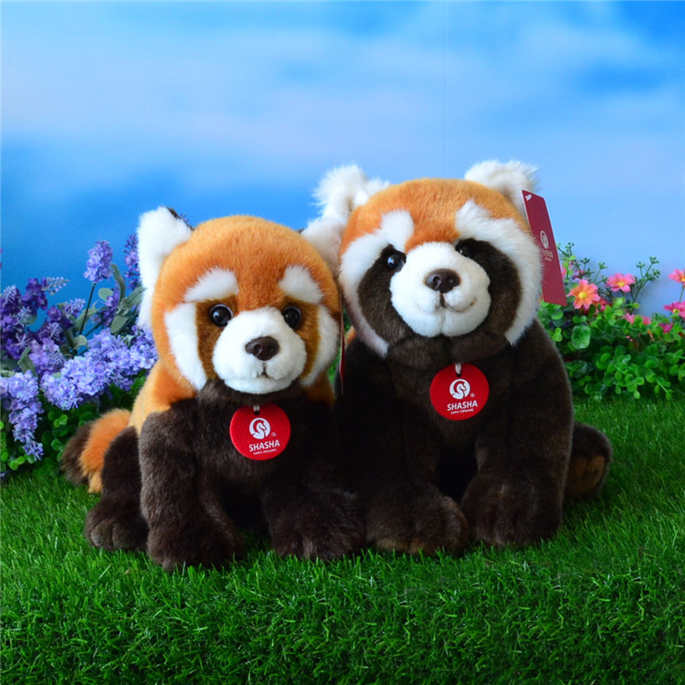 High Quality Simulation Red Panda Plush Toys Stuffed Animal Toy Soft Lesser Panda Dolls Kids Toys recur toys high quality horse model high simulation pvc toy hand painted animal action figures soft animal toy gift for kids