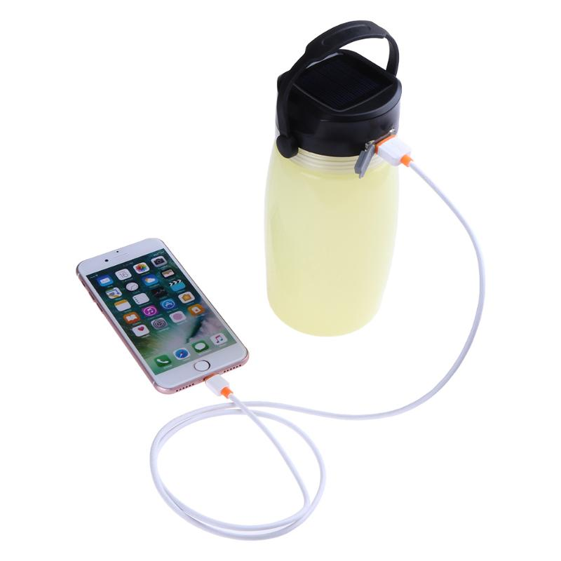 Portable Outdoor Sports Water Bottle Solar Charge Camping Light Luminous Cup For Sports Fitness Hiking Travel Outdoor Tool portable solar power meter for solar research and solar radiation measurement sm206
