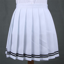 White color With Black edge / Coffee milky white JK pleated skirt students Girl lolita Leisure