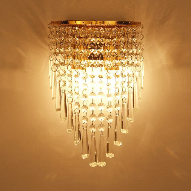 Modern Art High Grade Crystal E14 Wall Lamp For Home Bedroom Living Room Decoration Indoor LED Lighting European Luxury Style-in Wall Lamps from ...