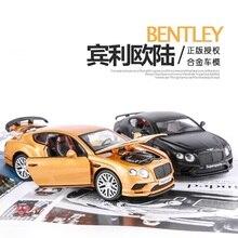 1:32 Bentley добавлены Европейский Континентальный модель автомобиля акусто-свет отступить детский автомобиль Игрушечные лошадки