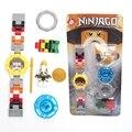 NINJA mini Super hero ниндзя мини Строительные блоки Оригинальная коробка Часы Кирпичи Совместимы lepines Игрушки для детей подарок