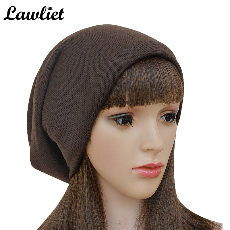 New Unisex knitted Hat Caps Skullies Bonnet For Women Warm Hats Scarves Beanies  Baggy Bouncy Solid Womens Floppy Beanie Cap Hat new winter beanies solid color hat unisex warm grid outdoor beanie knitted cap hats knitted gorro caps for men women