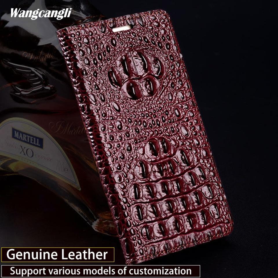 Merk crocodile back patroon telefoon case Voor Huawei P20 lite lederen telefoon case flip Magnetische gesp telefoon case - 2