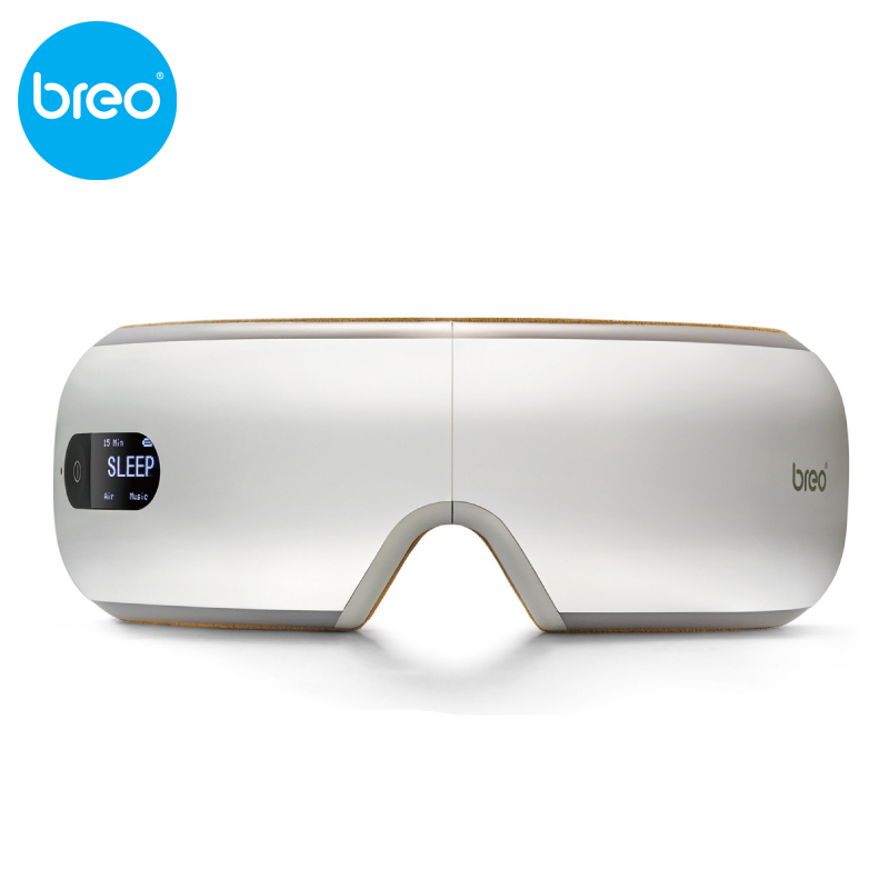 KIKI Beauté monde. nouveau style. breo isee4.Air pression Eye massager avec mp3, eye magnétique infrarouge lointain chauffage. soins oculaires. isee 4