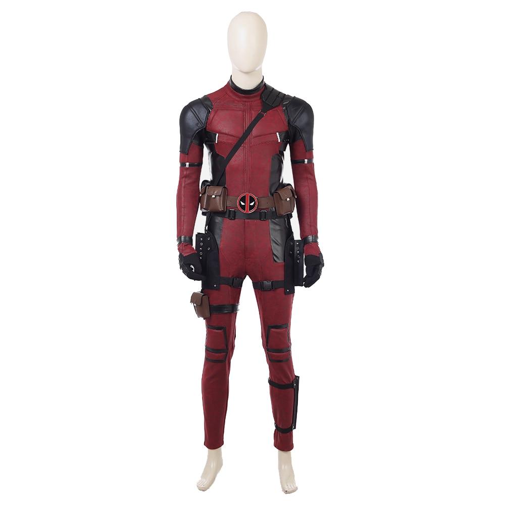 Deadpool Costume Movie Deadpool 2 Wade Wilson Jumpsuit Costume Superhero Halloween Carnival Cosplay Costume Outfit