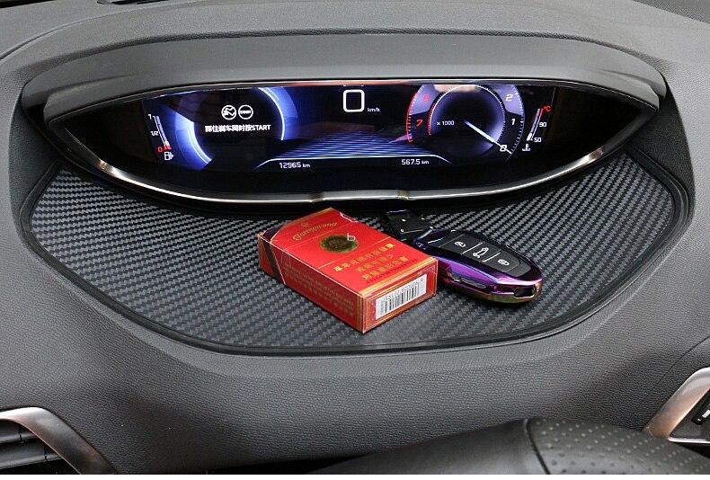Interior Dashboard Display Non-slip Pad Mat 1pcs For Peugeot 3008 GT 2016-2019