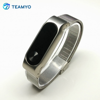 Teamyo Newest Metal Strap Band For Mi Band 2 Smart Watch Stainless Steel Bracelet Replace Accessories