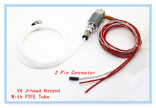 3D V6 3D Printer J-head Hotend With PTFE Tube for 1.75mm/3.0mm Direct Filament Wade Extruder 0.2mm/0.3mm/0.4mm/0.5mm Nozzle