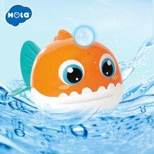 HOLA 8103 Bath Toy Bathing Spouts Beaver Lanternfish bathroom Toys for Children Water Swimming shower kid цена 2017