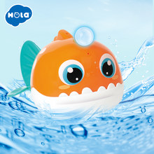 HOLA 8103 Bath Toy Bathing Spouts Beaver Lanternfish bathroom Toys for Children Water Swimming shower kid(China)