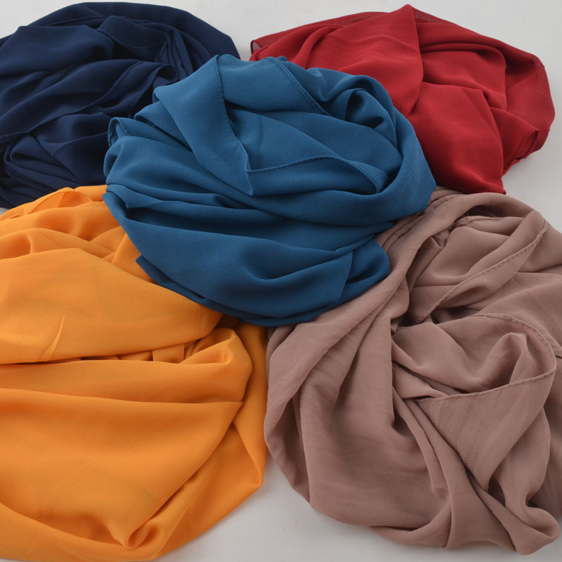 High Quality Plain Bubble Chiffon Scarf,chiffon Square Scarf,popular Muslim Hijab,shawls Wrap,head Wear Square Hijab 115x115cm