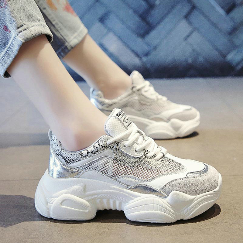 White Platform Wedges Womens Sneakers 2019 Spring Summer Shoes Mesh Breathable Increased Womens Shoes Pink Casual ShoesWhite Platform Wedges Womens Sneakers 2019 Spring Summer Shoes Mesh Breathable Increased Womens Shoes Pink Casual Shoes