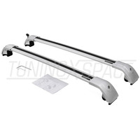 2 Pieces Silver Cross Bar Crossbar Roof Rail Rack fit for Nissan Qashqai 2018 2020