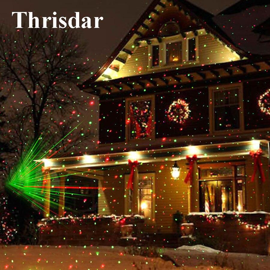 Im Freien Bewegen Sky Star Weihnachten Laser Projektor Lampe Green & Red LED Bühne Licht Landschaft Rasen Garten Licht