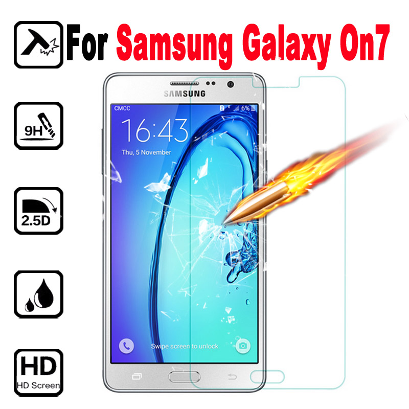 Glas On Protective Tempered Glass Screen Protector Film Tremp For Samsung Galaxy On7 G6000 On 7 G 6000 Protective Films Case 9H