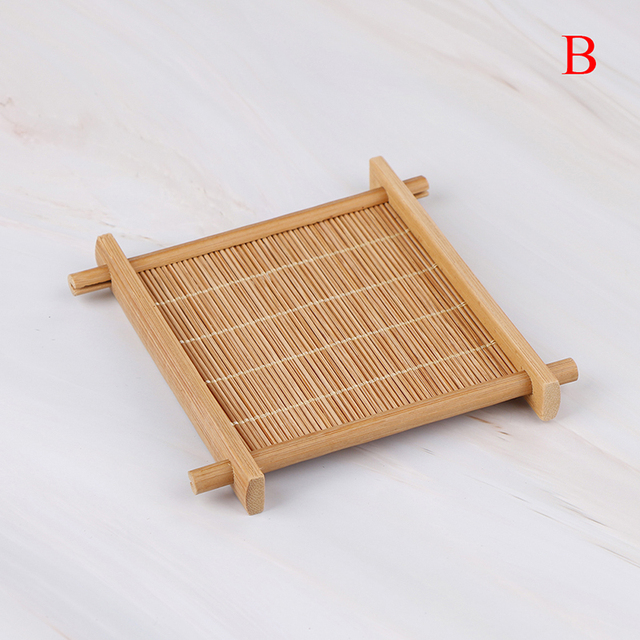 Heat Insulation Saucer Bamboo Tea Cup Mat