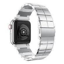 Bracelet pour Apple Bracelet de montre 38/40mm 42/44mm acier inoxydable métal 1 lien Bracelet Smartwatch Bracelet pour Apple Watch Serise 1 2 3 4 5