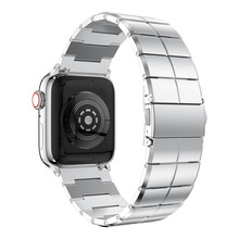 Strap Voor Apple Horlogeband 38/40 Mm 42/44 Mm Rvs Metalen 1 Link Armband Smartwatch Band voor Apple Horloge Serise 1 2 3 4 5