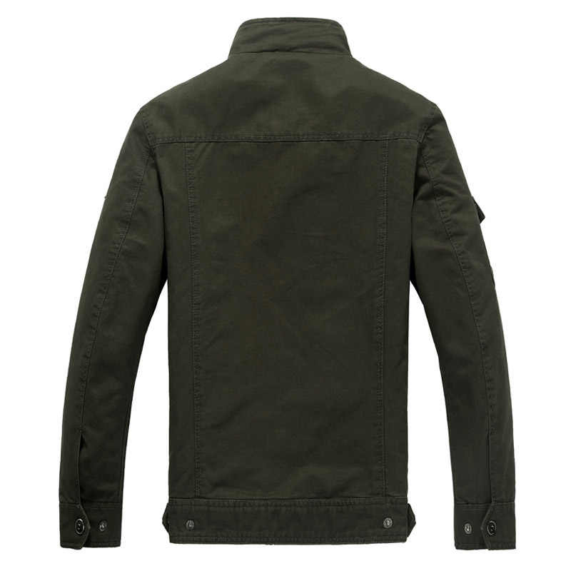 Pamuk askeri ceket erkekler 2019 sonbahar bahar ceket asker MA1 tarzı ordu ceketler erkek marka erkek bombacı ceketler artı boyutu M-6XL