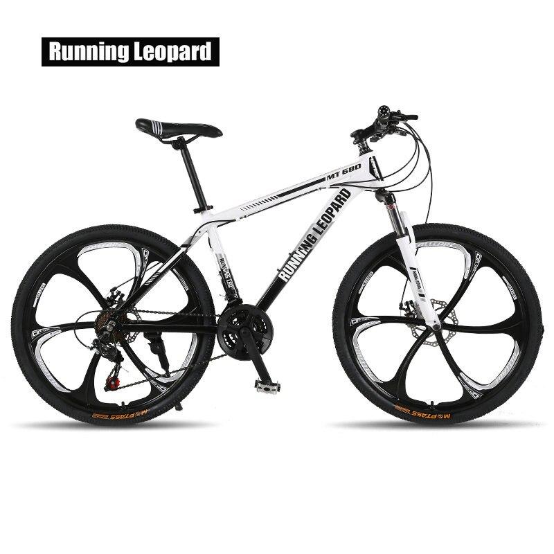 Courir Leopard vtt 26-pouces en acier 21-vitesse vélos freins à double disque à vitesse variable route vélos racing vélo