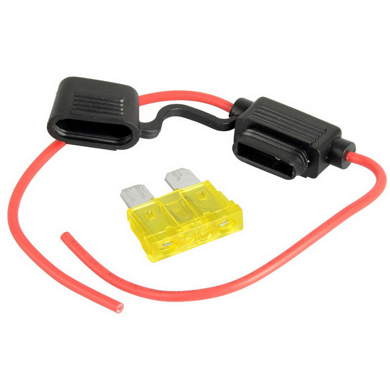 New 1pcs Hot Selling 20A Fuse&Medium Waterproof In-Line Car Stanard Blade Type Fuse Holder