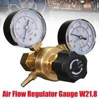 1PC Mini Argon CO2 Gas Bottle Pressure Regulator MIG TIG Welding Flow Meter Gauge W21.8 1/4 Thread 0 20 mpa