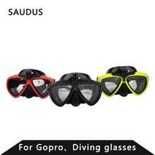 Gopro accesorios gafas de buceo máscara de buceo accesorios de montaje para go pro héroe 4 xiaomi yi de 3 + 3 sj4000 cámara de la acción
