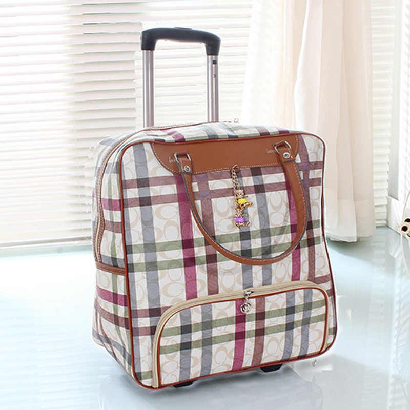 Женские дорожная сумка, чемодан, чемодан D' холст для акварели Оксфорд прокатки дело тележки, из искусственной кожи-переноски колеса буксировочный ящик