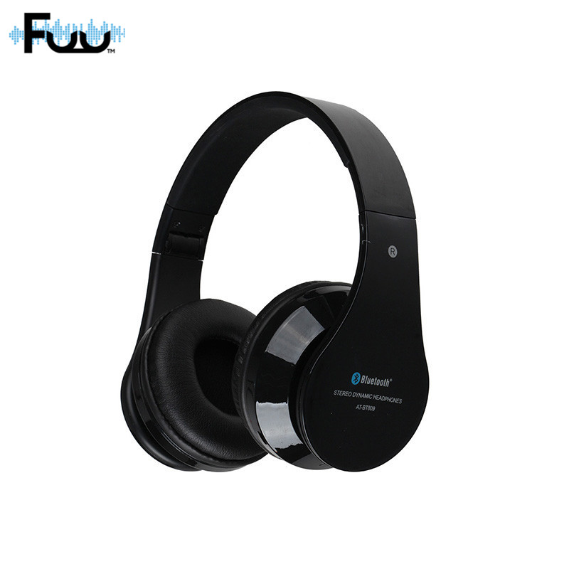 AT-BT809 Foldable Wireless Headphones Bluetooth High Quality Stereo Gaming Headset With Microphone FM TF Slot For Iphone Ipad PC ks 509 mp3 player stereo headset headphones w tf card slot fm black