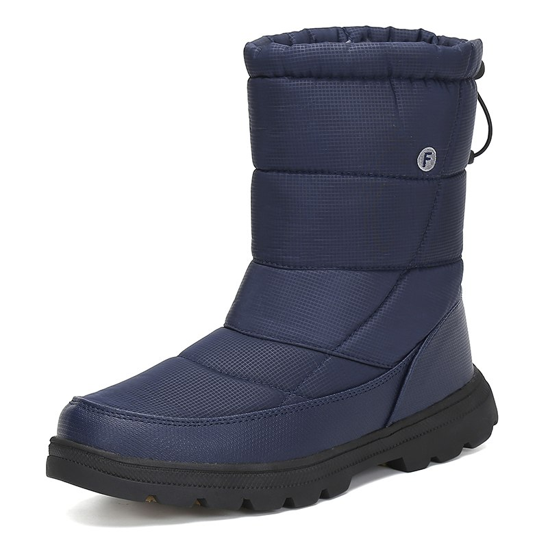 Christmas Men Shoes Winter Snow Boots Men Flat Safety Shoes Warm Military Boots Waterproof Rain Boots Antiskid Zapatos De Hombre