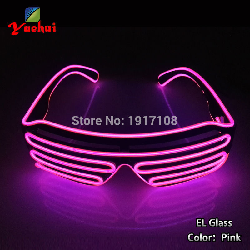 Hot selling Sound active 10 Color Light up LED shutter glasses EL wire glasses Party Gift Powered by 3V For Christmas decoration