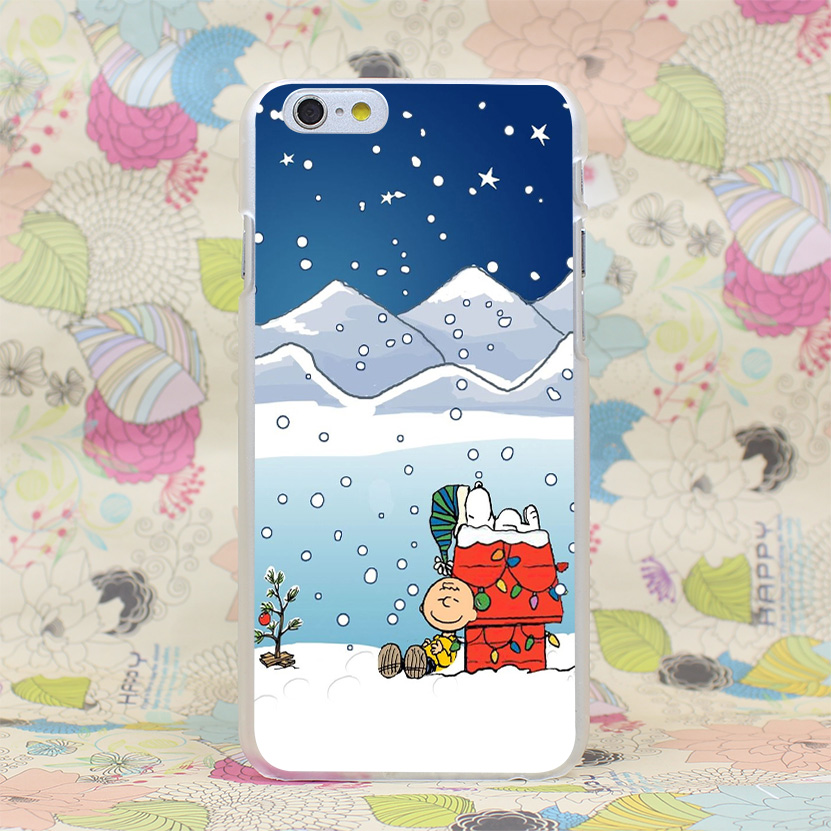181HJ Charlie Brown Christmas Hard Transparent Case Cover for iPhone 4 4s 5 5s SE 5C 6 6s Plus 7 7 Plus