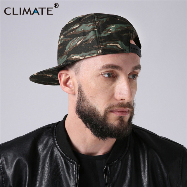 a1f3ca4abed5c CLIMATE New Hiphop Snapback Caps Men Camouflag Rapper Hat Unique Youth Army  Cap Flat Peak Camouflag